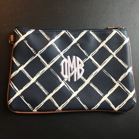 thirty-one Handbags - Rubie Mini in Dash of Pebble Plaid w DMB monogram